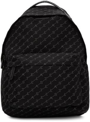 Stella McCartney Black Monogram Falabella Backpack