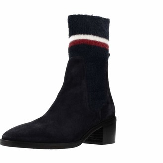 Tommy Hilfiger Women's Cosy Mid Heel Suede Bootie Ankle Boots