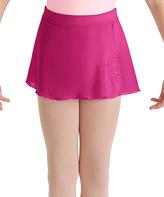 Bloch Hot Pink Mock-Wrap Skirt - Girls