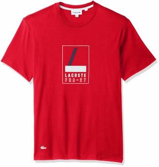 Lacoste Men's Short Sleeve REG FIT Heritage Graphic TEE