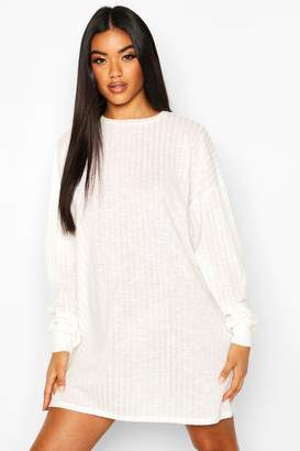 boohoo Crew Neck Sweater Dress
