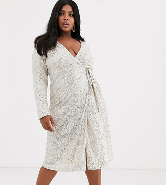 Unique21 Hero sequin wrap dress