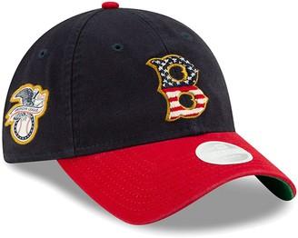 New Era Women's Navy Boston Red Sox 2019 Stars & Stripes 4th of July 9TWENTY Adjustable Hat