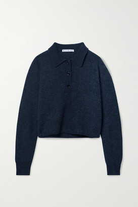 Acne Studios - Cropped Knitted Sweater - Dark gray