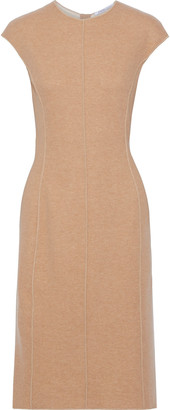 Agnona Leather-trimmed Cashmere Dress