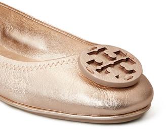 Tory Burch Minnie Metallic Medallion Travel Ballerina Flats