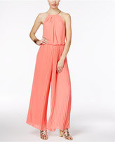 Thalia Sodi Pleated Halter Jumpsuit, Only at Macy's