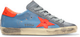 Golden Goose Deluxe Brand Super Star distressed leather and suede sneakers