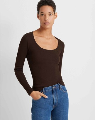 Club Monaco Long-Sleeve Scoopneck Tee