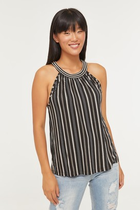 Ardene Striped Halter Neck Cami