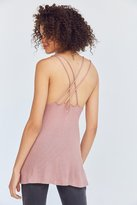 Silence & Noise Silence + Noise Waffle Knit Strappy Back Tank Top