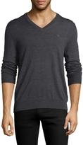 Brooks Brothers Men's V-Neck Merino Wool Sweater