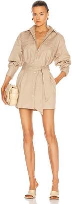 Marissa Webb Skylar Canvas Tunic Dress in Sandshell   FWRD