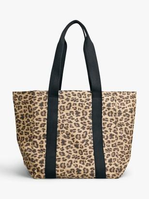 Hush Milos Leopard Print Tote Bag, Brown