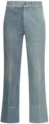 Gucci 24.5cm Patchwork Cotton Denim Jeans
