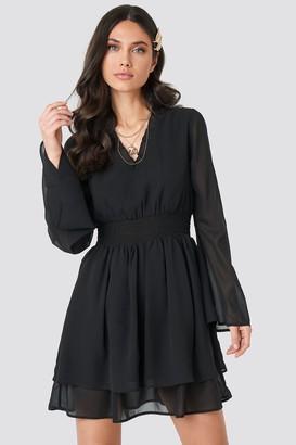 NA-KD Shirred Waist Detail Dress Black