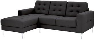 Brook Premium Leather 3 Seater Left Hand Corner Chaise Sofa