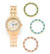 Invicta 20095 Women's Wildflower Infinity Quartz Bracelet Watch w/ 4-Piece Crystal Bezel Set