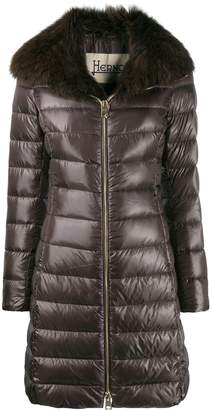 Herno fur lined padded coat