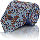 Ermenegildo Zegna Men's Striped Paisley Necktie-BLUE