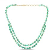 Tresor Collection Emerald & Diamond Necklace In 18K Yellow Gold