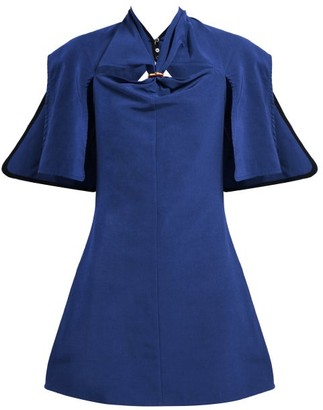 Ellery Holly Of Hollies Cut-out Mini Dress - Womens - Navy
