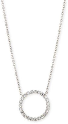 FANTASIA Medium CZ Circle Pendant Necklace