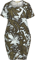 Isolde Roth Plus Size Printed cocoon linen dress