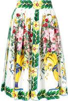 Dolce & Gabbana floral print skirt - women - Cotton - 42