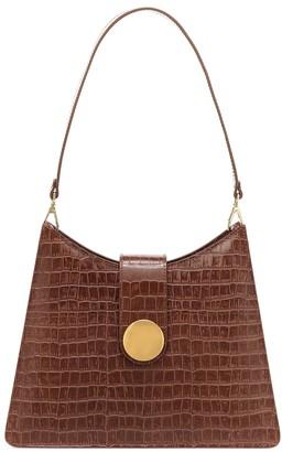 Elleme Cat croc-effect leather shoulder bag