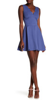Love...Ady Scalloped V-Neck Mini Fit & Flare Dress