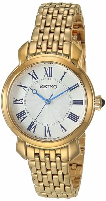 Seiko Women's Essentials Japanese Quartz Gold Tone Strap 12 Casual Watch (Model: SUR626)