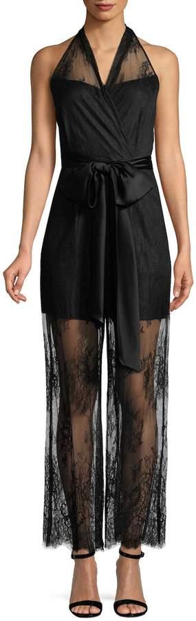 Diane von Furstenberg Women's Halter Lace Jumpsuit