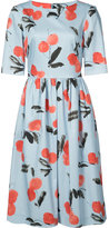Carolina Herrera cherry print dress - women - Cotton/Spandex/Elastane - 2
