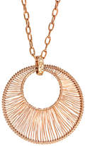 """Zales Wired Wrapped Pendant in Stainless Steel with Rose IP - 19"""""""