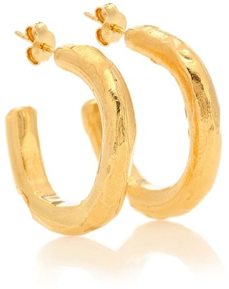 Alighieri The Etruscan Reminder 24kt gold-plated hoop earrings