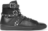Saint Laurent Studded leather high-top sneakers