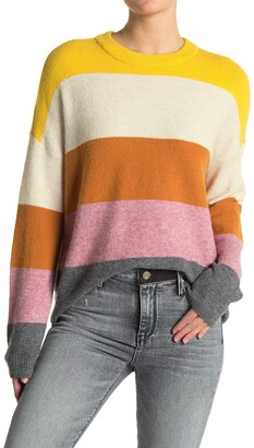 Madewell Crofton Stripe Pullover Sweater
