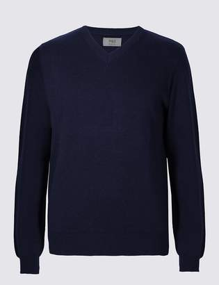 M&S CollectionMarks and Spencer Pure Cotton V-Neck Jumper