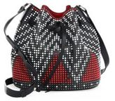 Les Petits Joueurs Beaded Leather Bucket Bag