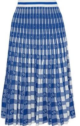 Baum und Pferdgarten Cyrilla Pleated Metallic Gingham Knitted Skirt