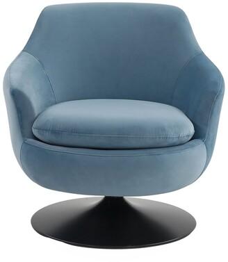 Safavieh Couture Citrine Velvet Swivel Accent Chair