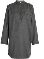 MORPHO + LUNA Tess flannel-wool pyjama shirtdress