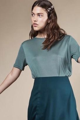 N. Jan 'n June - Boy Oversized Lyocell T Shirt Dark Mint - XS