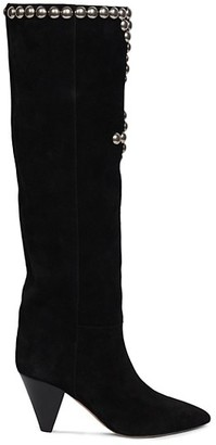 Isabel Marant Lalle Studded Tall Suede Boots