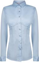Essentials Bi-Stretch Cotton Bustier Shirt