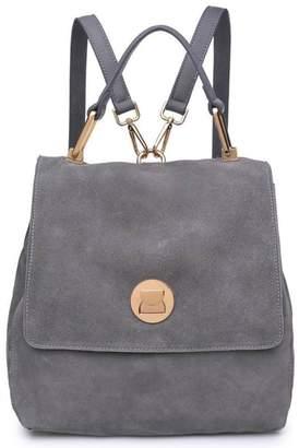 Moda Luxe Suede Backpack