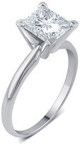1 1/2 CT. T.W. IGL certified Princess-cut Diamond Solitaire Prong Set Ring in 14K Gold (HI-I3)