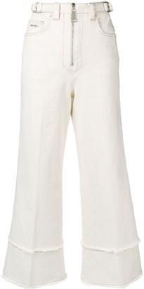 Miu Miu Denim Cropped Jeans