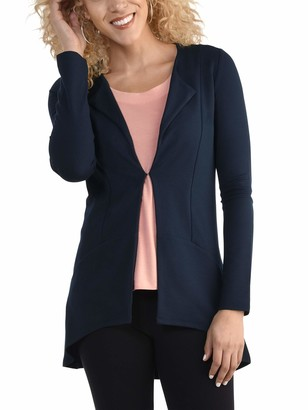 Seek No Further by Fruit of the Loom Women's Open Front Long Sleeve Ponte Stretch Jacket